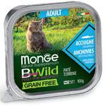 Влажный корм Monge BWild Cat Grain Free (из анчоуса с овощами)