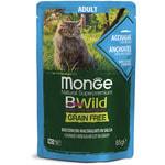 Влажный корм Monge Cat BWild Grain Free (из анчоусов с овощами)