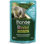 Влажный корм Monge Cat BWild Grain Free (из трески с креветками и овощами)