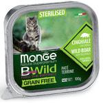 Влажный корм Monge BWild Cat Grain Free для стерилизованных кошек (кабан с овощами)