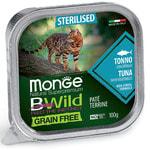 Влажный корм Monge BWild Cat Grain для стерилизованных кошек (тунец с овощами)