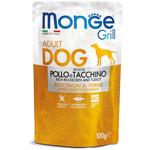 Влажный корм Monge GRILL для собак с курицей и индейкой
