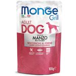 Влажный корм Monge GRILL для собак с говядиной