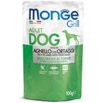 Влажный корм Monge GRILL для собак с ягненком и овощами