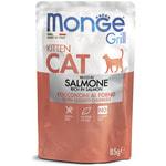 Влажный корм Monge GRILL для котят с лососем