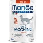 Влажный корм Monge Monoprotein для кошек с индейкой