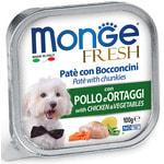 Влажный корм MONGE DOG FRESH с курицей и овощами