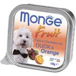 Влажный корм MONGE DOG FRUIT с уткой и апельсином