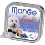 Влажный корм MONGE DOG FRUIT с индейкой и черникой