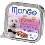 Влажный корм MONGE DOG FRUIT с курицей и малиной