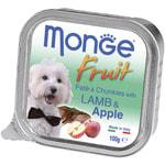 Влажный корм MONGE DOG FRUIT с ягненком и яблоком