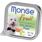 Влажный корм MONGE DOG FRUIT с лососем и грушей
