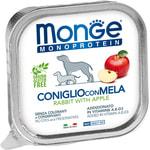 Влажный корм MONGE DOG NATURAL, кролик с яблоком