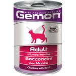 Влажный корм GEMON CAT кусочки с говядиной