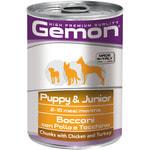 Влажный корм GEMON DOG для щенков с курицей и индейкой