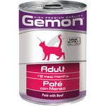 Влажный корм GEMON CAT паштет с говядиной