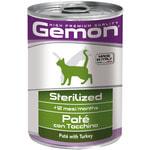 Влажный корм GEMON CAT для стерилизованных паштет из индейки