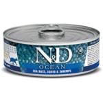 Влажный корм Farmina N&D Ocean с сибасом, кальмаром и креветками