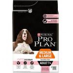 Сухой корм Pro Plan для собак 7+, с лососем и рисом