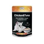 Влажный корм GINA Chicken & Tuna — Цыпленок с тунцом