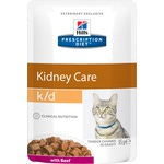 Влажный корм Hill's Prescription Diet k/d Kidney Care Feline (говядина)