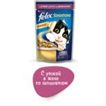 Felix Sensations утка в желе со шпинатом