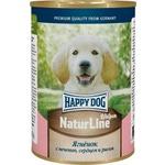 Влажный корм Happy Dog Щенки - ягненок с печенью, сердцем и рисом