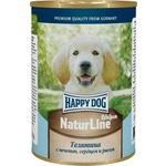 Влажный корм Happy Dog Щенки - телятина с печенью, сердцем и рисом