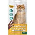Лакомства для кошек «Мнямс Лакомые Палочки» (цыпленок и печень)