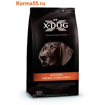 Сухой корм X-Dog Adult Dog Chicken, Turkey & Rice