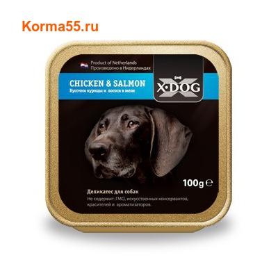 Влажный корм X-Dog Chicken & Salmon
