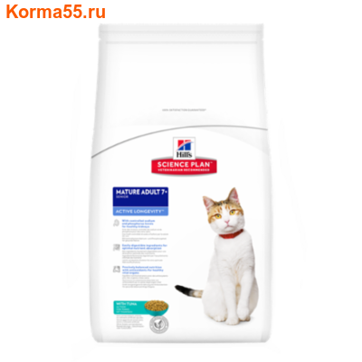 Сухой корм Hill's Science Plan Mature Adult 7+ Active Longevity Feline (тунец)