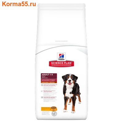 Сухой корм Hill's Science Plan Adult Large Breed Advanced Fitness Canine (курица)