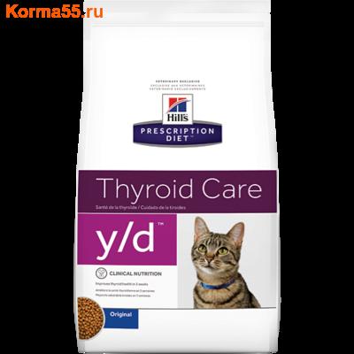 Сухой корм Hill's Prescription Diet y/d Thyroid Care Feline
