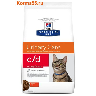 Сухой корм Hill's Prescription Diet c/d Urinary Stress Feline