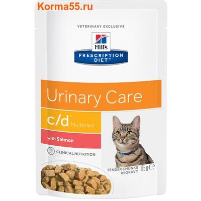 Влажный корм HPD c/d Multicare Feline Tender Chunks in Gravy with Salmon (лосось)