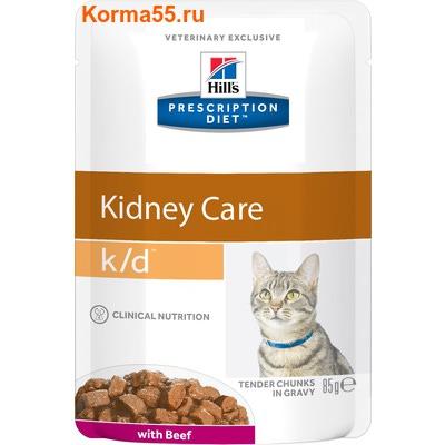 Влажный корм Hill's Prescription Diet k/d Kidney Care Feline (говядина)