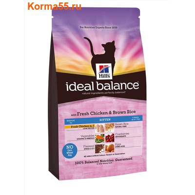 Сухой корм Ideal Balance Kitten with Fresh Chicken & Brown Rice