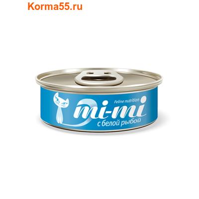 Влажный корм Mi-mi с белой рыбой